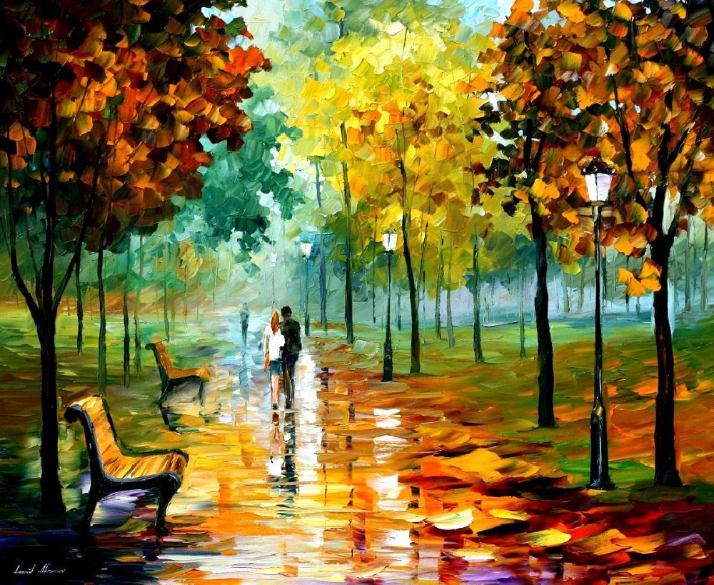 beautiful Painting Home Decor autumn leafs Colorful oil paintings Canvas Abstract ...