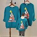 Осень и зима весна sweatershirt микки маус семья посмотрите одежда мать и дочь мама я девушка детей кло-бесплатная