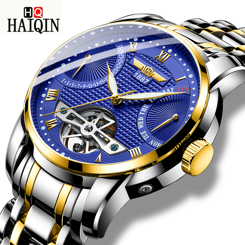HAIQIN Mens Watches 2019 New Luxury Fashion Brand Casual / Business / Automatic / Waterproof / Sports / Mechanical / Watch Men HAIQIN Mens Watches 2019 New Luxury Fashion Brand Casual / Business / Automatic / Waterproof / Sports / Mechanical / Watch Men