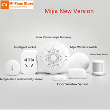 Original Xiaomi Kits maison intelligente porte fenêtre capteur capteur corps humain sans fil interrupteur humidité Zigbee Socket mihome APP