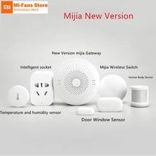 Oryginalny Xiaomi inteligentne zestawy do domu brama czujnik do okien drzwi czujnik ludzkiego ciała bezprzewodowy przełącznik wilgotności Zigbee gniazdo mihome APP