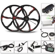 E велосипед электрические велосипеды велосипед мотор колеса 36 В 350 Вт eBike комплект электрическое преобразование велосипедов Комплект для 26 дюймов задний концентратор двигатель светодиодный ЖК-дисплей