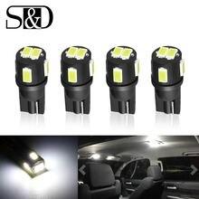 4 шт w5w Светодиодная лампа t10 led 194 168 12 В Белый автомобисветильник