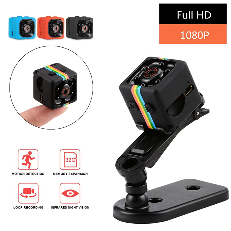 SQ11 Mini Camera 1080P Sport DV Mini Infrared Night Vision Monitor Concealed SQ11 Small Cameras DV <font><b>Video</b></font> Recorder Cam Car image
