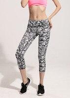 2017 New Summer Fashion Crack Stripe Sporting Leggings Women's Quick Drying Breathable Yuga Pants Push Up Fitness Leggings Femme