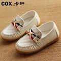 Sneakers crianças primavera verão Crianças sapatos de cores doces Crianças PU marca de couro sapatos para meninos meninas sports Sneakers barco Meninos sapatos