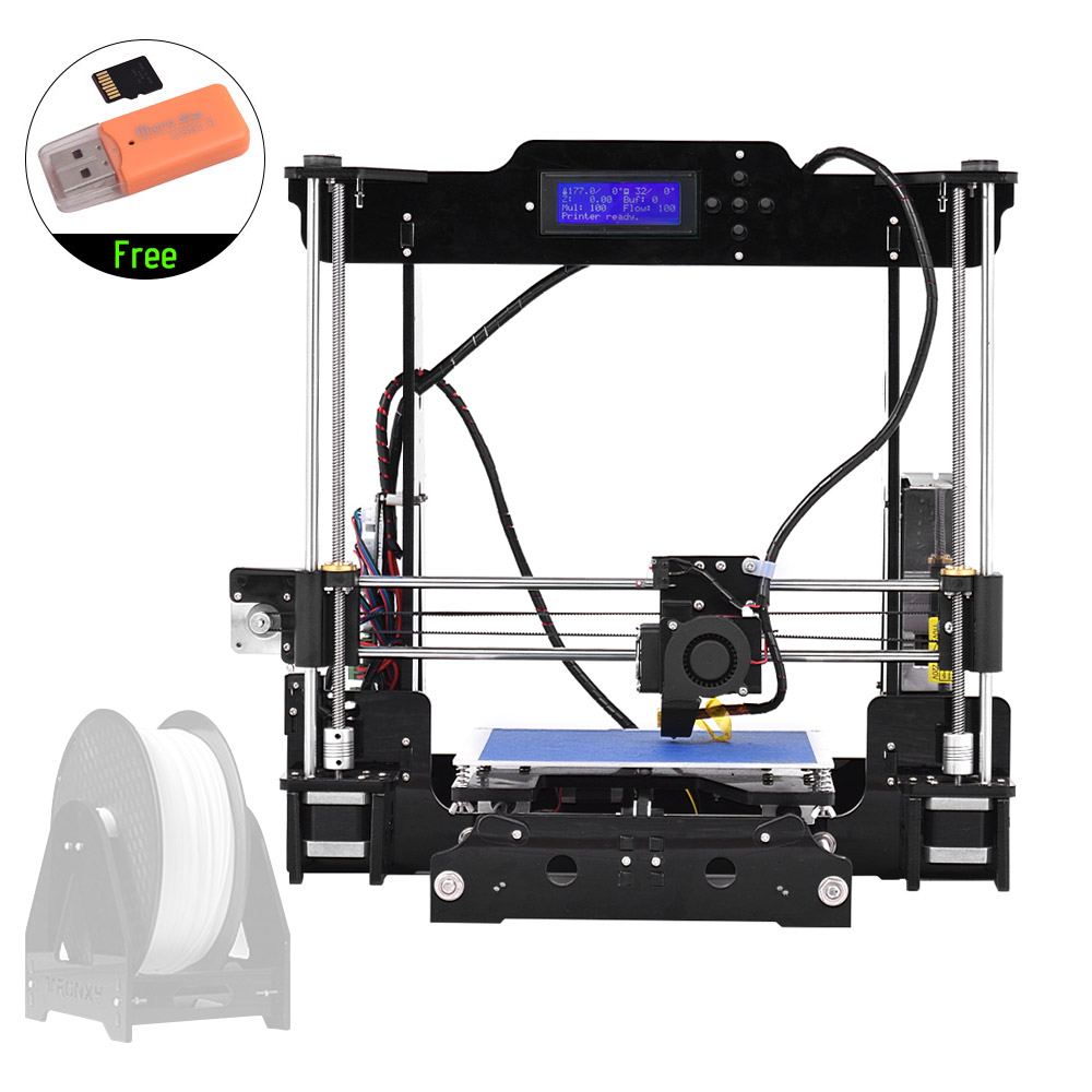 Tronxy Desktop 3D Printer Kits DIY Self Assembly Acrylic Frame i3 with TF Card Max Printing