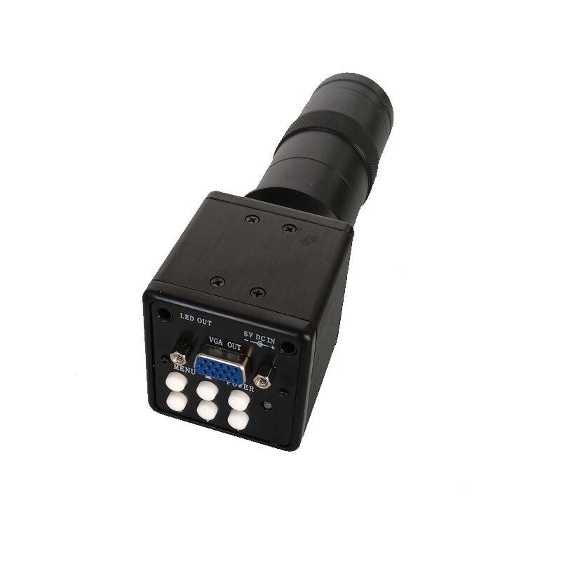 Паяльная печатная плата SMD SMT Repair Inspection Tool VGA видео цифровой микроскоп камера + 130X C-Mount объектив