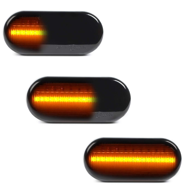 2 pc Dinâmica Piscas de Led Lado marcador de luz Da Lâmpada para SEAT Ibiza VW Volkswagen Golf Bora 3/4 Passat 3B polo Sharan Vento 6N T5