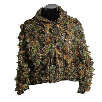 3d camo hunting ghillie suit bionic leaf poncho hi