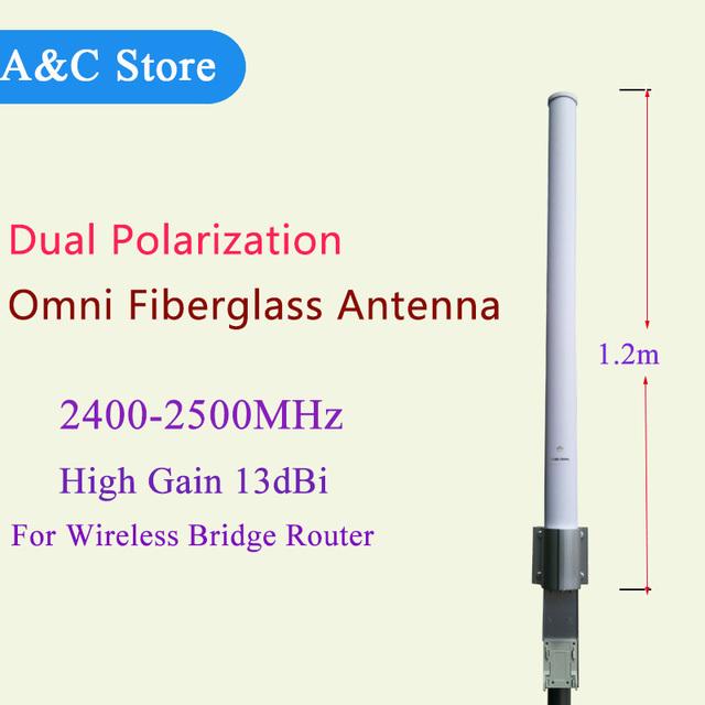 2.4g wifi antena de polarización dual mimo 26dBi antena de alta ganancia de 2400 ~ 2500 mhz antena de fábrica de la alta calidad rp SMA macho