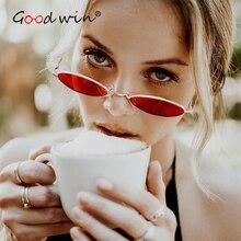 Good Win High Quality Oval Sunglasses Women Vintage Retro 90s For Men Metal Glasses Frame sonnenbrille frauen