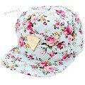2016 Fashion Floral Snapback Baseball Cap Flat Peaked Adjustable Hip-Hop Hat for Men Women Bone Aba Reta Gorras Casquette U2