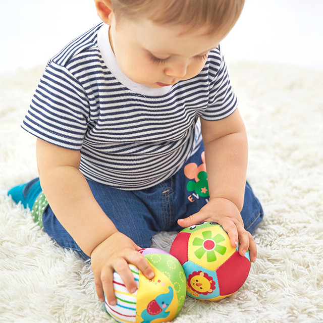 Baby Toys For Children Animal Ball Soft Plush Toys With Sound Baby Rattles Infant Babies Body Building Ball For 0-12 Months 4