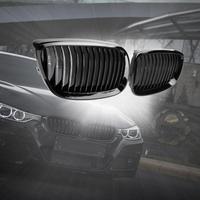 2Pcs Black Racing Grills Bumper Kidney Grilles Car Gloss Front Kidney Grill Grilles for BMW E92 E93 316i 320d 06 10 Car Parts