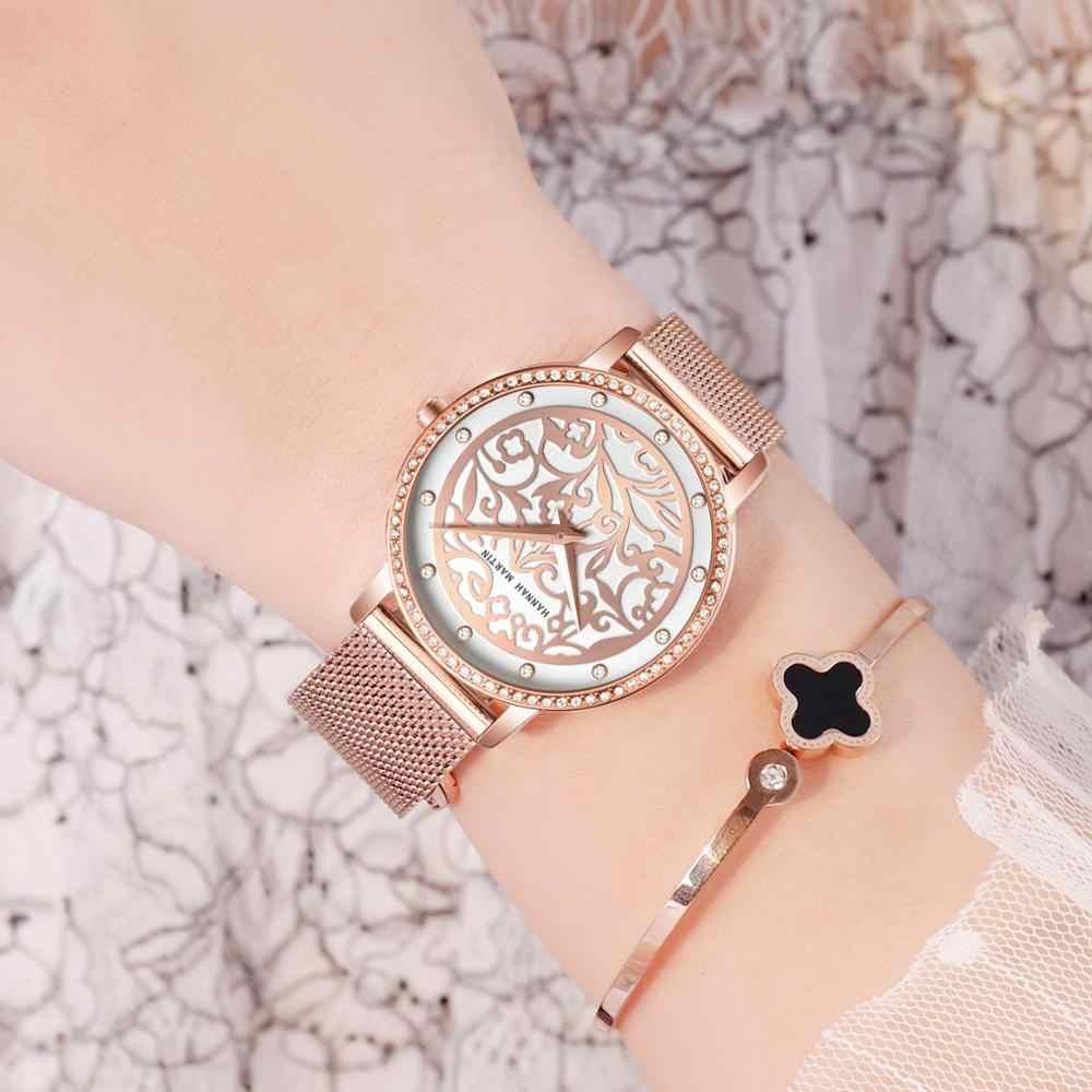 Женские наручные часы модные 3D гравировка японские водонепроницаемые кварцевые часы ins Топ люксовый бренд водонепроницаемые Relogio Feminio