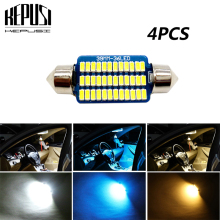 4X festoon 31/36/39/42mm Car led Light Canbus C5W Lamp 12V Interior Dome Reading Bulb For passat b6 MK6 MK3 Passat Jetta6 polo