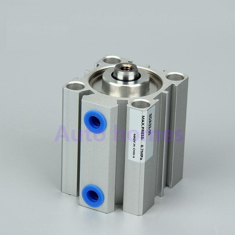 Hohe Qualität Bohrung 32 Compact Air Pneumatische Kolben Zylinder Dünnen Zylinder Doppel Wirkenden Sda32-5/10/15/20 /25/30/45/50/100 Mechanische Hardware Hardware