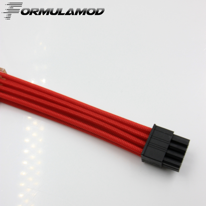 FormulaMod CPU 8Pin Motherboard Power Extension Cable 18AWG 8Pin Extension Cable for water cooling computer FMCPU8P-A formulamod pci 6pin motherboard power extension cable 18awg 6pin extension cable for water cooling computer fmpci6p c
