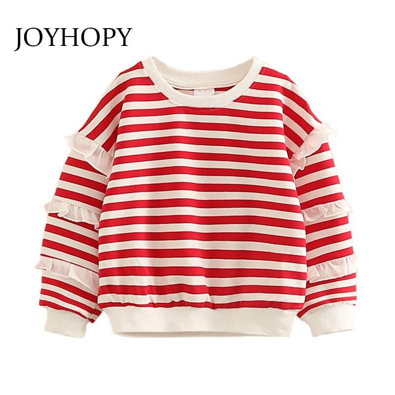 Aufrichtig Joyhopy Frühling Herbst Mädchen Sweatshirts Kinder Kleidung Striped Print Baby Mädchen Hoodies Sweatshirt Und Tops Kind Kleidung Einfach Und Leicht Zu Handhaben