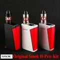Original smok h-priv hpriv oled mod caixa mod 220 w tc caixa de 18650 Tanque Atomizador Cigarro Eletrônico Vape E Micro TFV4 vaporizador
