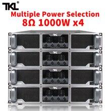 TKL 4*1000 Вт чистый пост-класс усилитель мощности Профессиональный DJ сабвуфер линейного массива poweramp для сцены