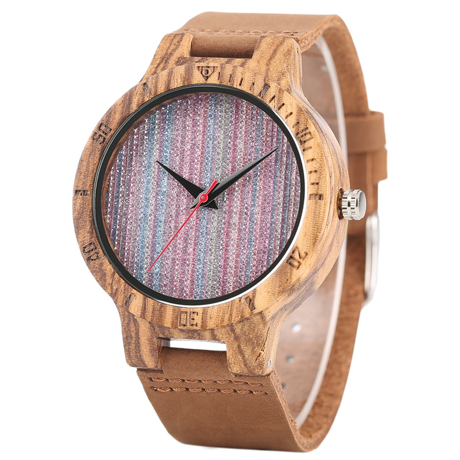 Creative Shiny Weave Bamboo Wood Watch Nature Analog Quartz Cool Men Wristwatch Women Leather Strap Bracelet Handmade Clock Gift Fashion (17)