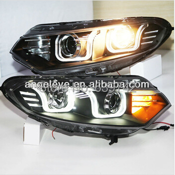 2013-2014 Year For  FORD EcoSport LED U Style Angel Eyes Head Light with Projector Lens LD