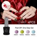 MRO 4 pieces/lot Peel off one step gel nail polish unhas de gel varnishes nails gel professional esmaltes permanentes de uv gule