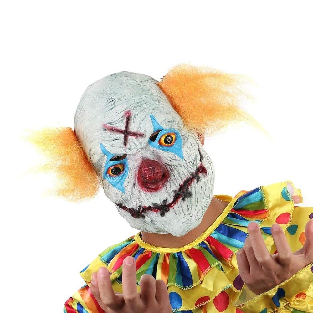 H&D Halloween Creepy Clown Mask- ը դեղին մազերով - Տոնական պարագաներ - Լուսանկար 2