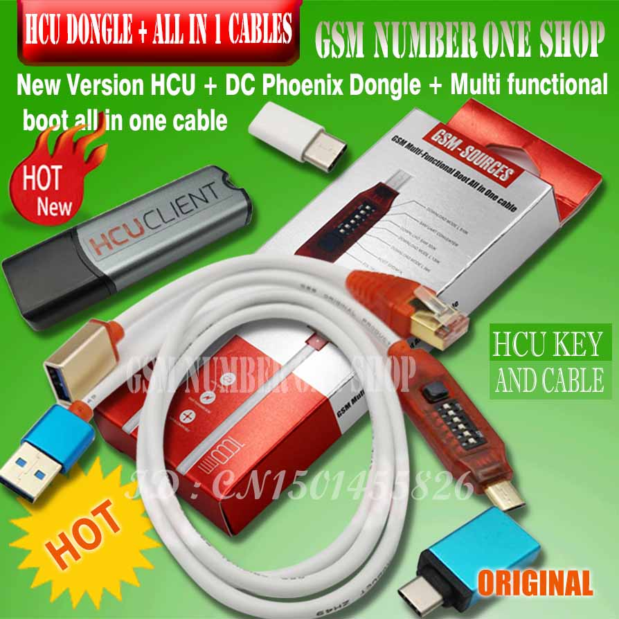 HCU Client HCU Dongle+DC Phoenix And Phone Converter For Huawei With Micro USB RJ45 Multifunction Boot All In 1 Cable
