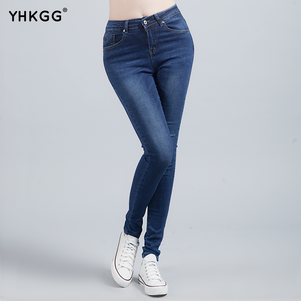 Pantalon jean élastique de taille haute ...