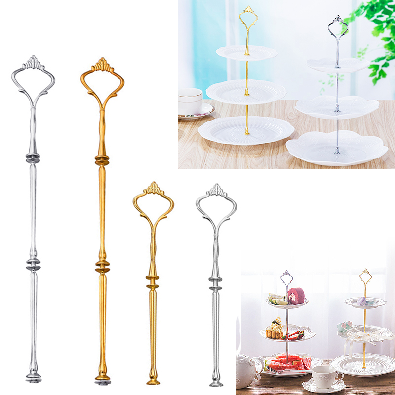 Convenient Fruit Tray 1PCS Cake Dessert Rack Gold And Silver Kitchen Restaurant Supplies Hot Sale 2 Or 3 Layers European Style