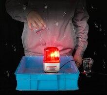 หมุนเตือนหลอดไฟสีเหลืองสีฟ้าสีแดงสีเขียวกลางแจ้งประตูนาฬิกาปลุกโคมไฟ 90dB เสียงพร้อมฐานแม่เหล็ก