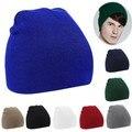 Alishebuy New Unisex Women Men Beanie Hat Warm Winter Short Ski Knit Hat