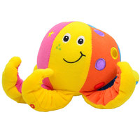 Plush Toy Octopus Baby Rattle