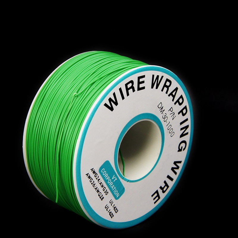 EziUsin Welding cable PCB Jumper Circuit Board 0.2mm Wire-Wrapping Electronic Wire 30AWG Cable 250m Green 30AWG 0.5mm 250m 30awg single core copper wire ok line circuit board flying line pcb jumper electronic wire welding cable