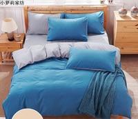 Free shipping Stripes winter 4pc bedding set,King size 1 duvet cover+1 bed sheet+2 pillowcases,bedclothes,dekbedovertrek edredon