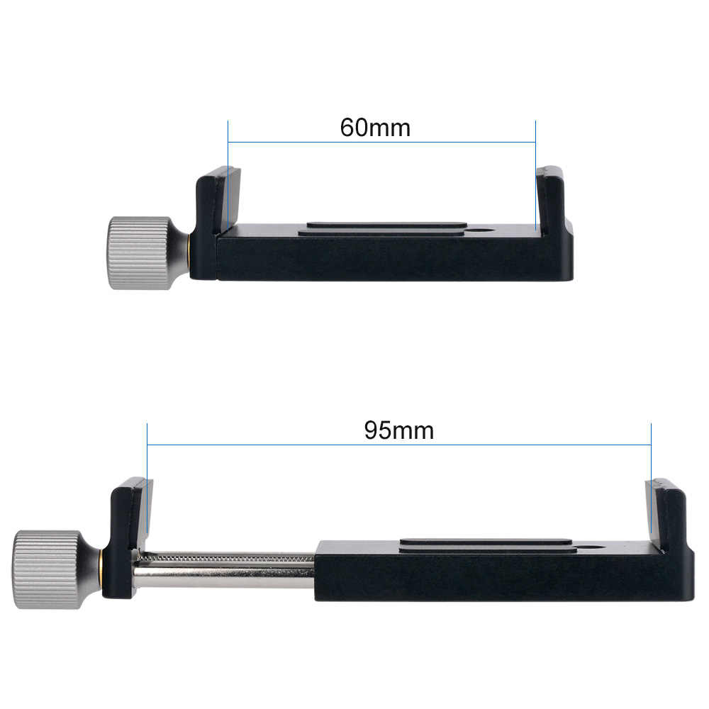 Moveski SJ-02 тренога для смартфонов зажим Крепление алюминиевый Металл Универсальное крепление с зажимом для 4-6 дюймов смартфон