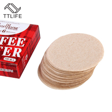 TTLIFE 100pc/pack Wood Pulp Coffee Filter Paper Round Professional Dripper for Tea Strainer Kitchen Tools