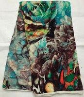 4 5meters Lot NVF1017 2 High Quality African Velvet Fabric New Design Nigerian Velvet Textile