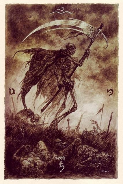 Karty Tarota Smierc Sztuki Karty Gry Wicca Magia Obraz Plakat Art