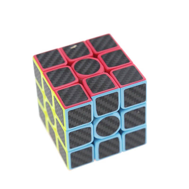 3x3x3 Carbon Fiber Magic Speed Cubes Toy Puzzle Children Gift Toy For Young Adults, Professional Instruction Rubiks Bucket