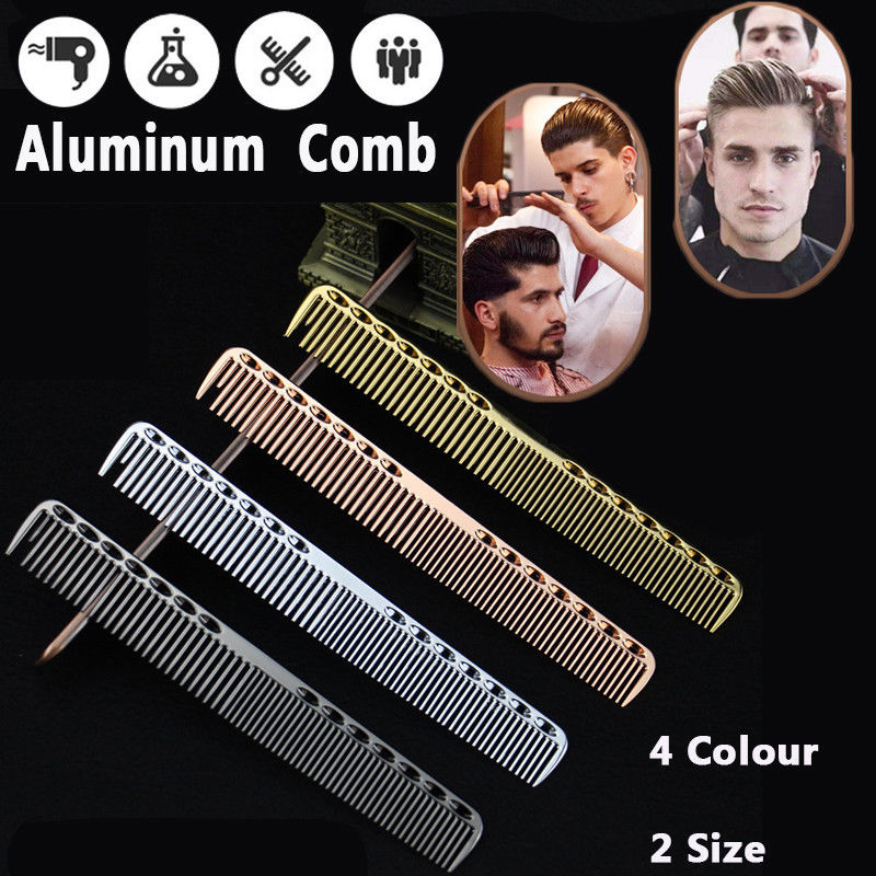 Mythus Metal Hair Cutting Comb Aluminum Hairdressing Barbers Comb Salon Professional Hairdressing Hair Styling Combs Tool