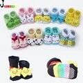 20 estilo encantador lindo recién nacido del bebé de los animales de dibujos animados muñeca infantiles calcetines modelo antideslizante niños calcetines de las niñas