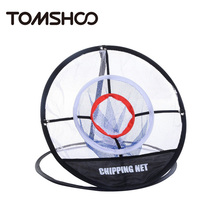 TOMSHOO Pop up 20 inch Golf Chipping Net Hitting Aid Golf Training Aids Tool Foldable Indoor Outdoor Practice Net with Carry Bag(China)