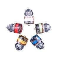 Nowy 5 Sztuk Małe Jasne Diody LED Głęboki Spadek Podwodne Wody Aktywowane Diament Strobe Flash Lekkie Łowienie Kalmary Przynęty Przynęty Stałe trwałe