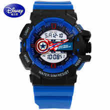 2017 Disney brand children Digital Wrist Watches Mickey Boy Swimming Watch 50m Waterproof sports watch calendar Alarm Luminous