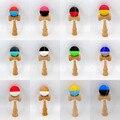Kendama Faia Natural, 12 Cores Opcionais, borracha Meia Divisão Kendama, 18 CM Silk Rubber Kendama feita a partir de Madeira de Faia, Montado Ken