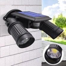 10W Solar Light COB led Bead Double Head Adjustable Lamp Security Lighting Spotlight For Outdoor Garden Yard Wall Waterproof